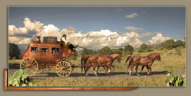 Stagecoach - 42X19 gallery wrap canvas