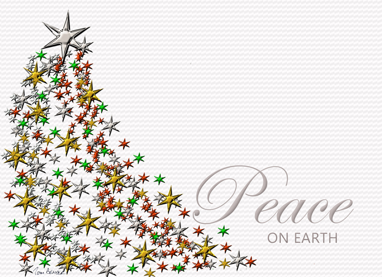 Christmas card, Peace on Earth, for distribution in 2015